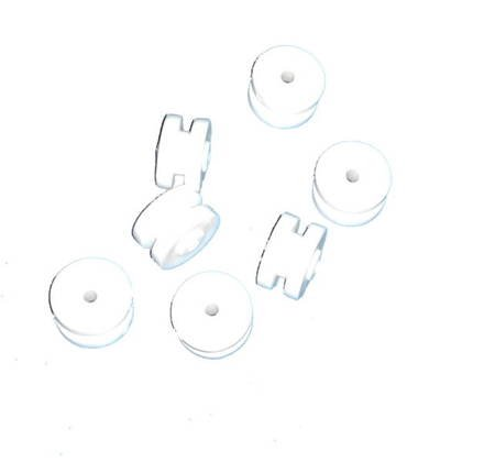 Adapter for 12 mm rod White 14 pcs