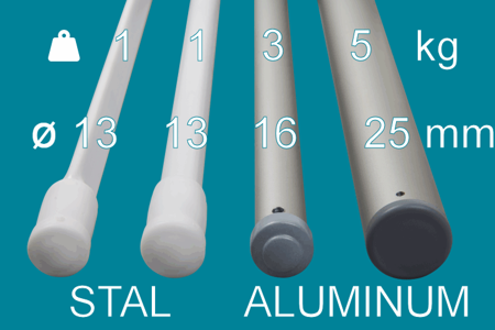Ceiling dryer 3 rod aluminum ø16 mm round rod